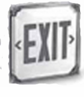 Green Exit Sign Lighting - Wet Location - BBU - White Housing – Single Face - (TCP Brand)