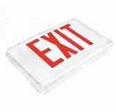 Green LED - Diecast Double Face Exit Sign - AC - White  - (TCP Brand)
