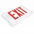 Green LED - Diecast Single Face Exit Sign - AC - BBU - White - (TCP Brand)