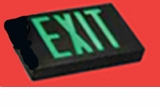 Green LED  Exit Sign - AC – Black Housing - BBU –   (TCP Brand)