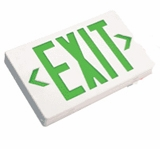 Green LED  Exit Sign - AC – White Housing - BBU –   (TCP Brand)