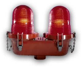 "H&P Hughey Phillips L-810 Double Obstruction Light With Relay -  OB22A41TM1 - 1"" Bottom Hub - 120/240VAC"" title=""H&P Hughey Phillips L-810 Double Obstruction Light With Relay -  OB22A41TM1 - 1"" Bottom Hub - 120/240VAC"