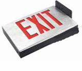 Red LED - Diecast Single Face Exit Sign - AC - BBU - (TCP Brand)