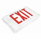 Red LED - Diecast Single Face Exit Sign - AC - BBU – White - (TCP Brand)
