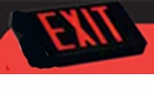 Red  LED  Exit Sign - AC – Black Housing - BBU - (TCP Brand)