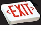 Red LED   Exit Sign - AC – White Housing - BBU - (TCP Brand)