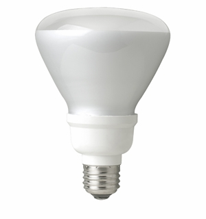 TCP - 14W – R30 Flood - Spring Light Compact Fluorescent Light Bulb - 803014