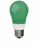 TCP 5W Cold Cathode A Shape Green Light Bulb - 8A05GR