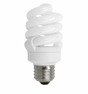 TCP CFL 13W Full Springlamp 65K Light Bulb - 4891365K