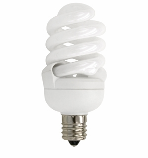 TCP CFL 13W Full Springlamp Candelabra Light Bulb – 4T213C