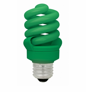 TCP CFL 13W Full Springlamp Green Light Bulb – 48913GR