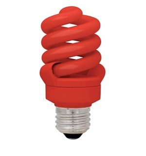 TCP CFL 13W Full Springlamp Red Light Bulb - 48913RD