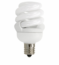 TCP CFL 9W Full Springlamp 30K Candel Light Bulb - 48909C30K