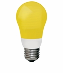 TCP CFL - Cold Cathode - Yellow - 8W - A Light Bulb - 8A08Y