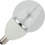 4W LED Elite Series Dimmable 27K  Candelabre G16 Globe Light Bulb - TCP Brand