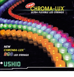 Ushio - Chroma -Lux Ultra Flexible Orange LED String