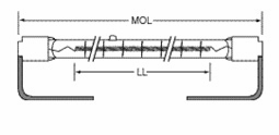 USHIO QIH277-2000/S Quartz Infared Heat (QIH) Lamp