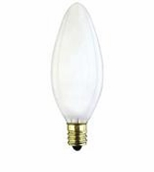 Westinghouse 25B9½/F/CB/CD2 Torpedo Candelabra Base Incandescent Light Bulb