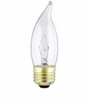 Westinghouse 25CA10/CD2 Flame Tip Standard Base Incandescent Light Bulb