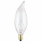 Westinghouse 25CA8/CB/12V Flame Tip Candelabra Base Incandescent Light Bulb