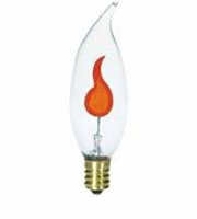 Westinghouse 3CA8/FLK/CB/DECOR Flicker Flame Decorlite Incandescent Light Bulb