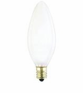 Westinghouse 40B9½/F/FAN/CB/CD2 Torpedo Candelabra Base Incandescent Light Bulb