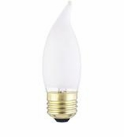 Westinghouse 40CA10/F/130 Flame Tip Standard Base Incandescent Light Bulb