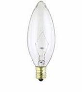 Westinghouse 60B10/CB/130 Torpedo Candelabra Base Incandescent Light Bulb