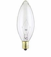 Westinghouse 60B10/CB Torpedo Candelabra Base Incandescent Light Bulb