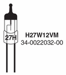 Whelen 27 watt 12 volt Replacement Bulb -  H27W12VM