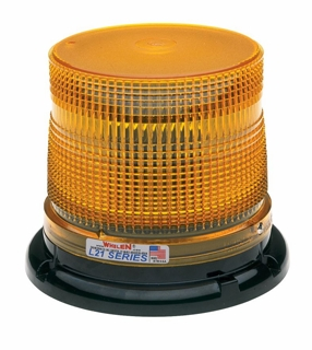 Whelen Super-LED Beaco Light - Perm/Pipe J Hook Mount - L21LAP