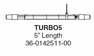 Whelen TURBO5 - Strobe Tube - For 900, 97, 9E, 81E Linear Reflectors- TURBO5