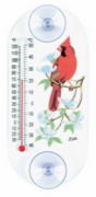 Cardinal and Dogwood Flowers Window Thermometer (Oblong)
