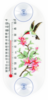 Hummingbird and Azaleas Window Thermometer