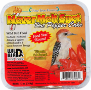 Never Melt Suet Hot Pepper Cake, 12 oz.