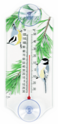 Nuthatch and Chickadee Classic Window Thermometer