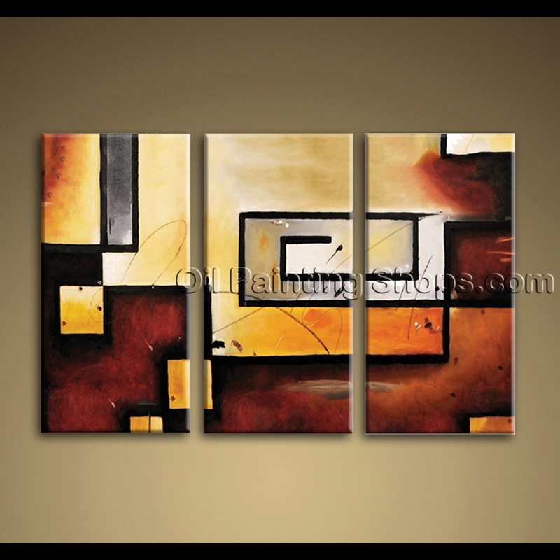art wall 3 piece abstract modern gallery wrapped canvas. Black Bedroom Furniture Sets. Home Design Ideas