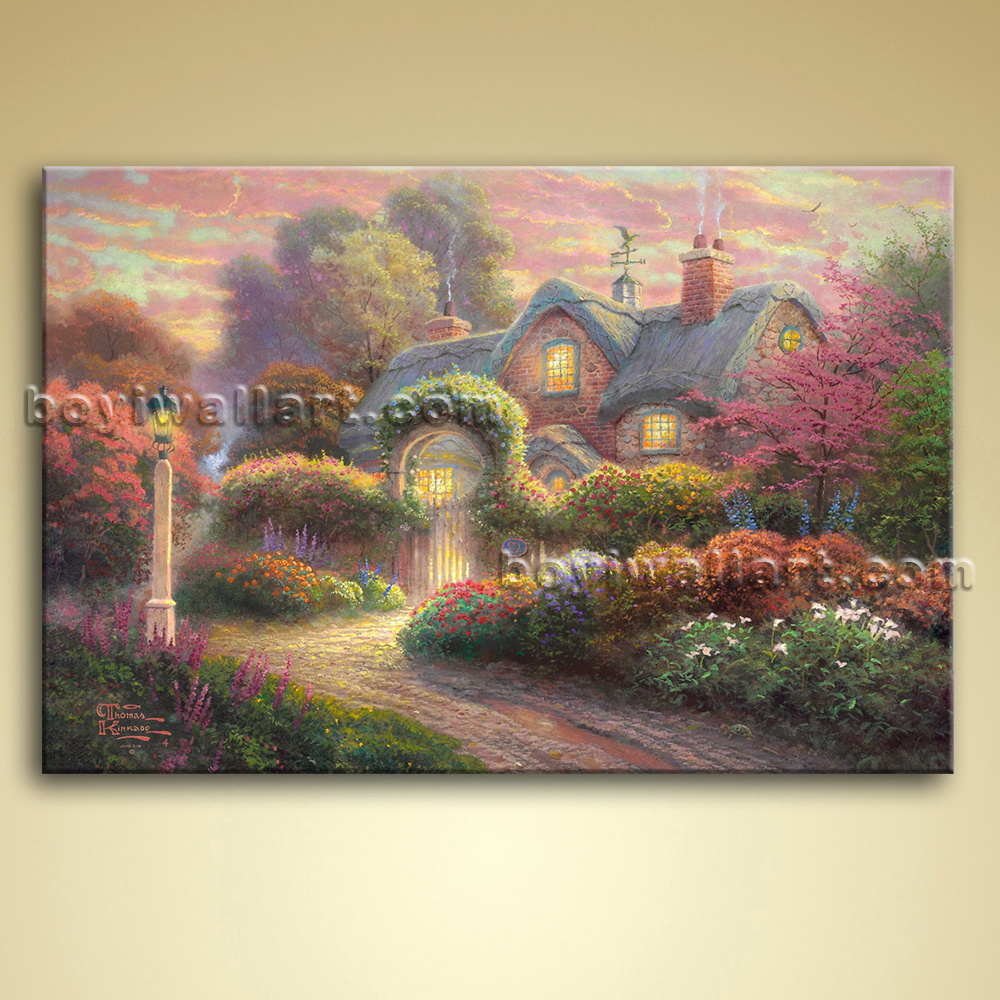 Classical abstract landscape painting oil on canvas wall Interiors by design canvas art