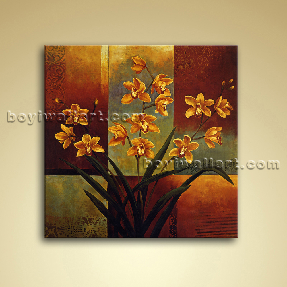 contemporary abstract floral painting oil canvas wall art. Black Bedroom Furniture Sets. Home Design Ideas