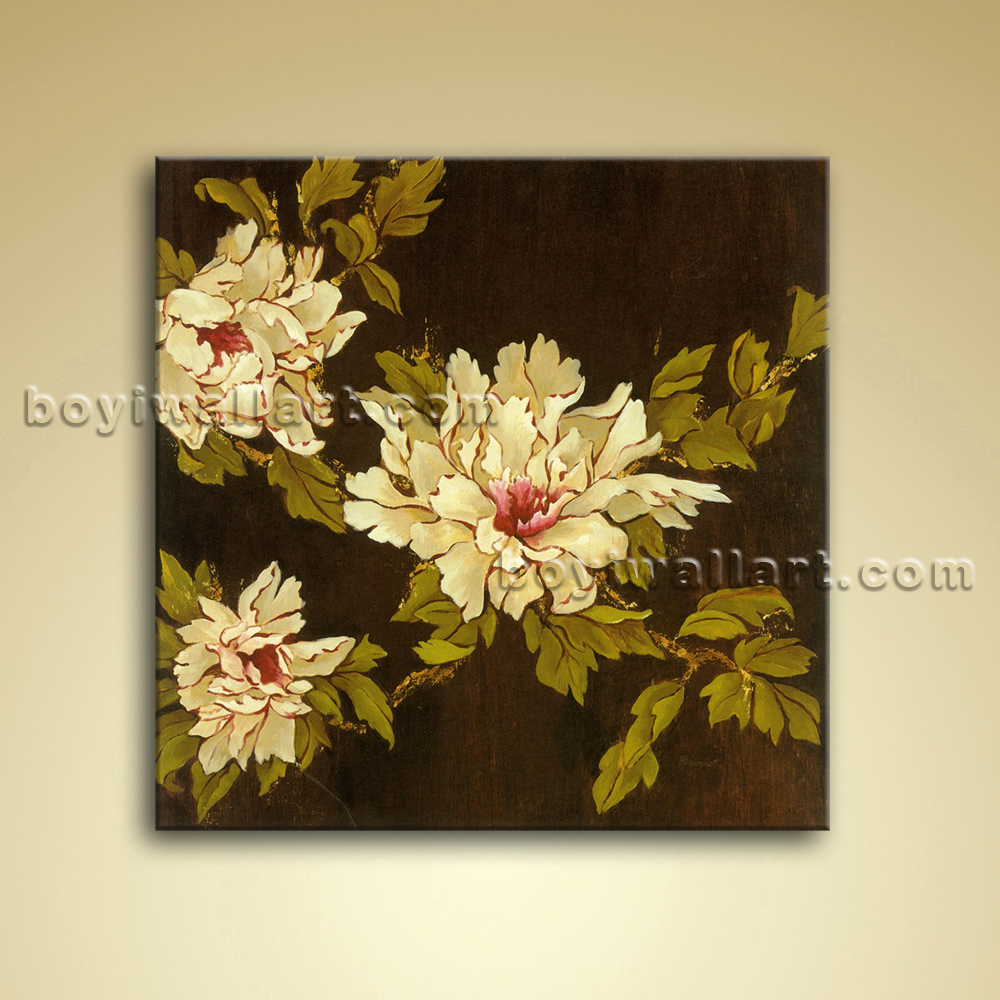 contemporary abstract floral painting oil picture on. Black Bedroom Furniture Sets. Home Design Ideas