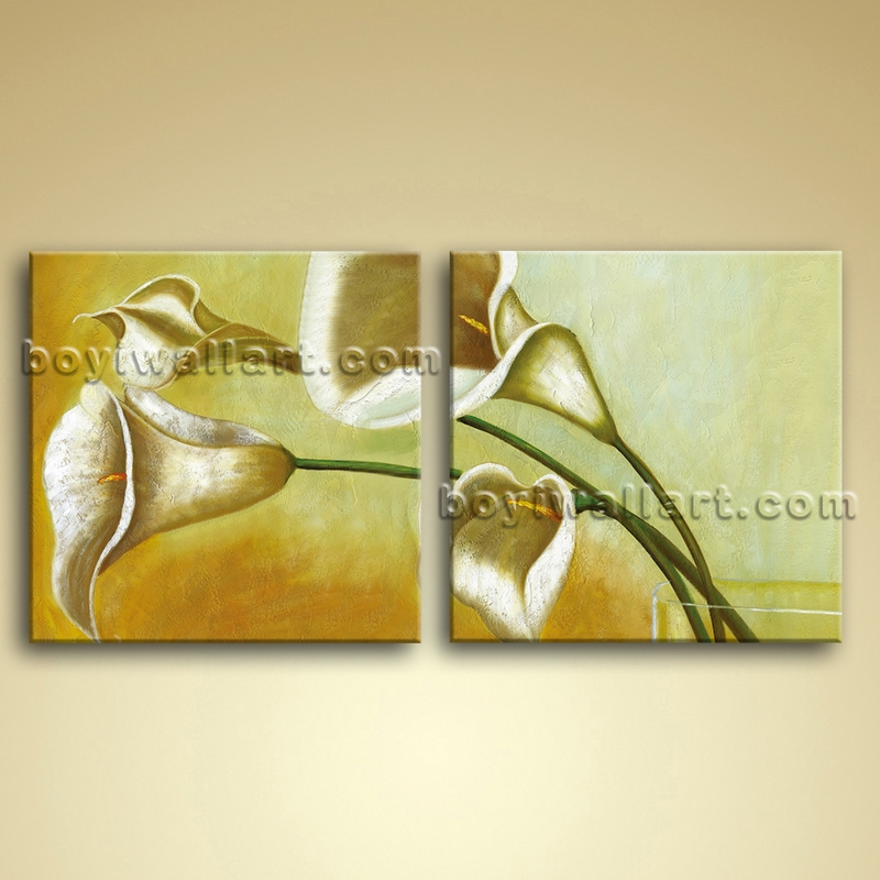 Contemporary Abstract Wall Art Oil Floral Painting