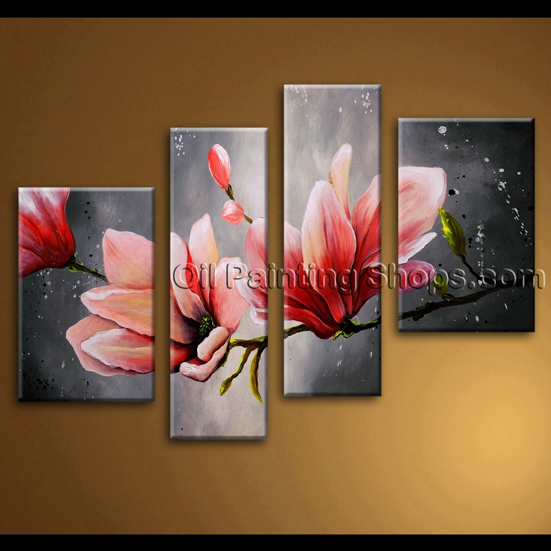 Extra large wall art abstract floral oil painting on for Extra large wall art