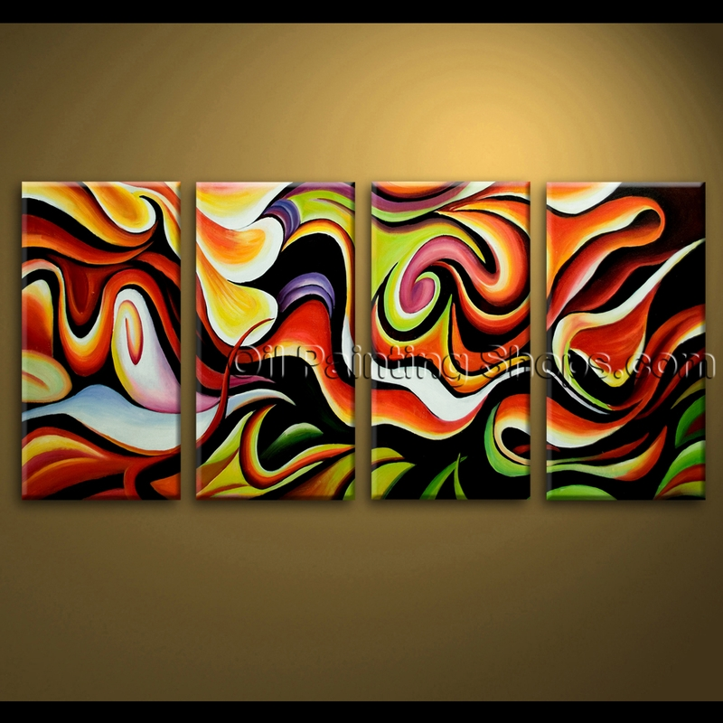 Extra large wall art abstract painting home decoration for Abstract mural ideas