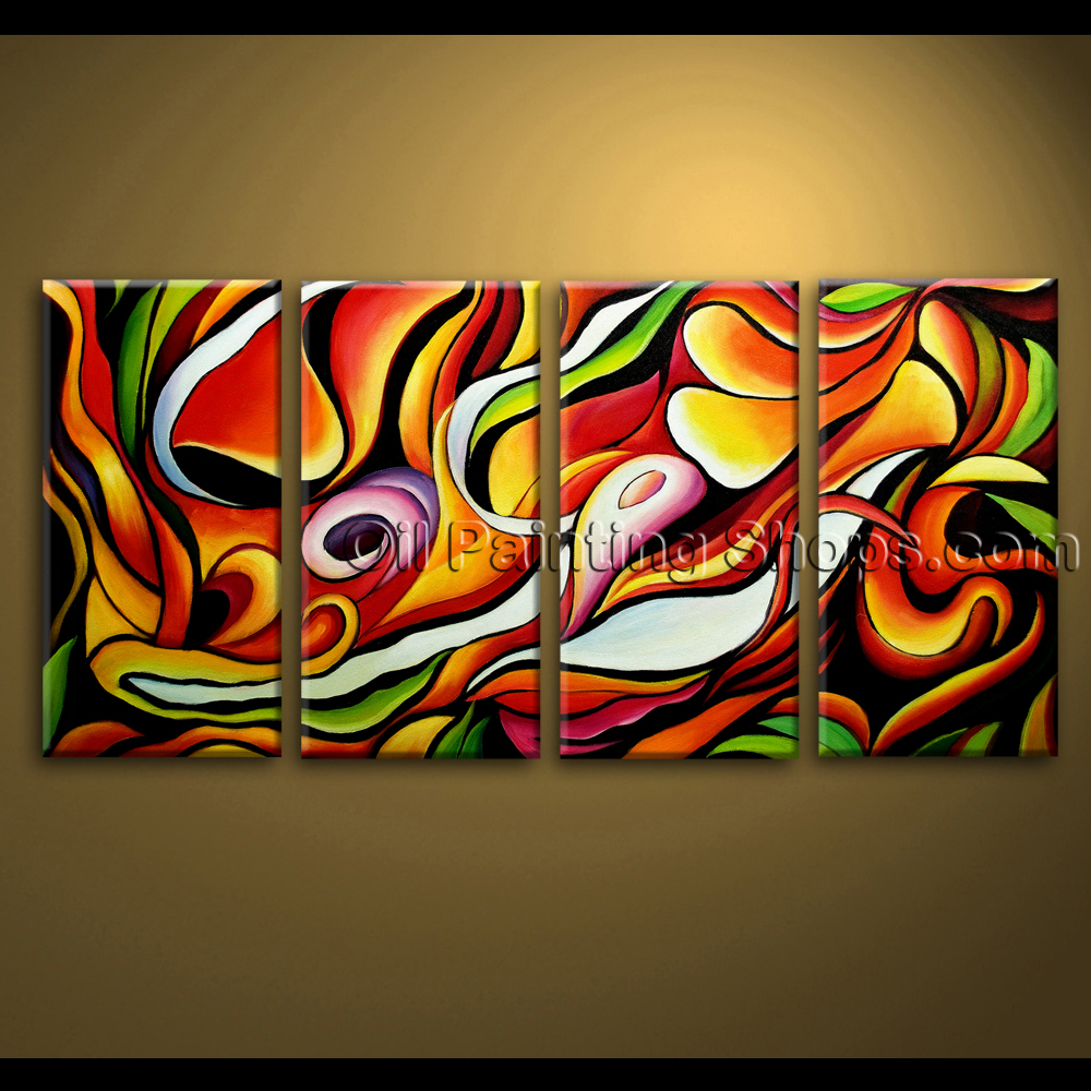 Extra large wall art abstract painting home decoration for Oil painting abstract ideas