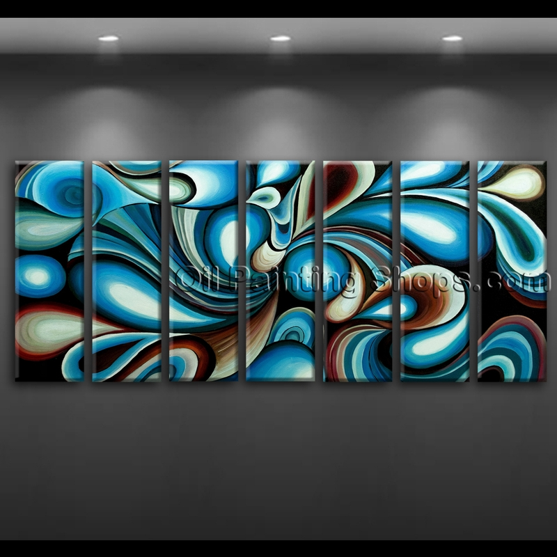 Extra large wall art colorful abstract oil painting on for Extra large wall art