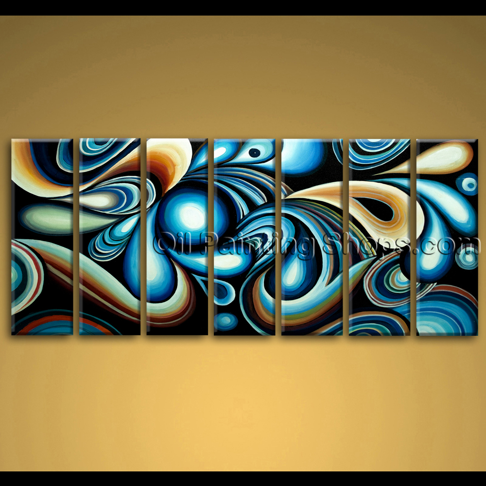 Extra large wall art colorful abstract oil painting on Colorful wall decor