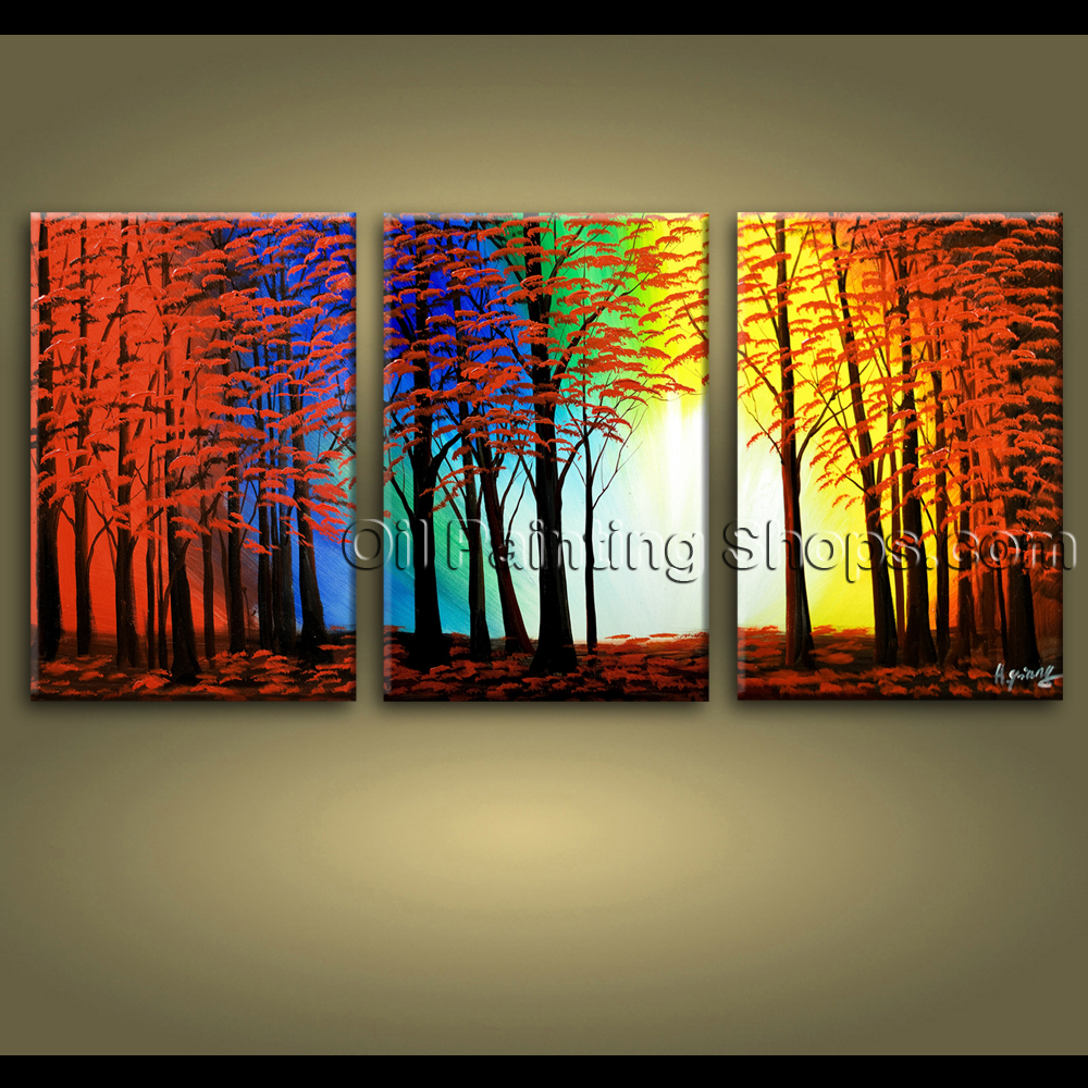 Extra large wall art hand painted abstract landscape for Big wall art