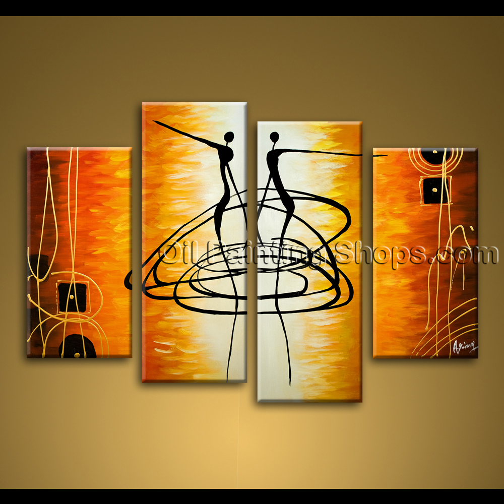 Extra large wall art hand painted abstract oil painting on for Extra large wall art