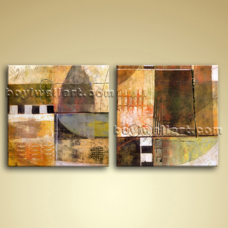 Wall Art Oil Painting : Large oil canvas wall art modern abstract painting picture