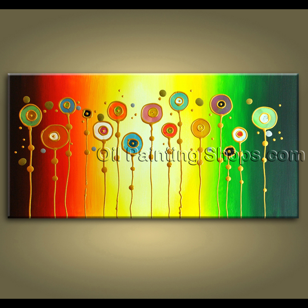Original Abstract Painting Signed Large Gallery Wrapped